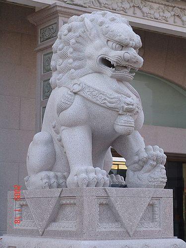 【中国製石獅子】 北獅子