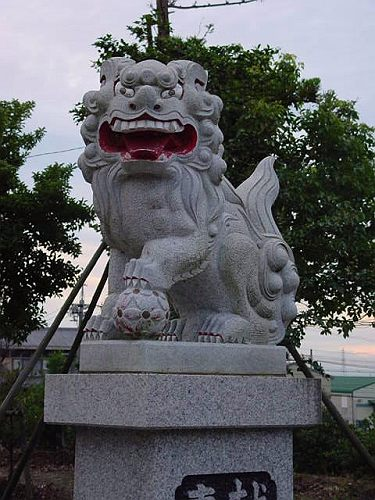 【中国製狛犬】 岡崎型