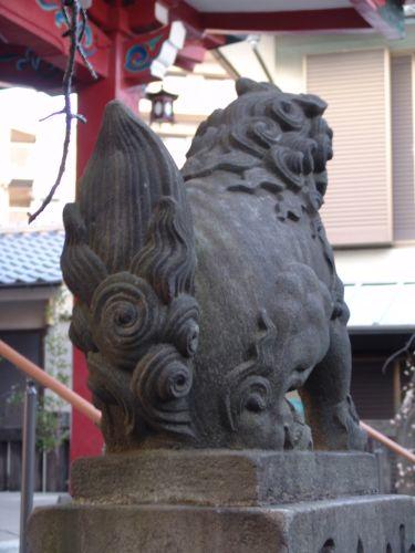 江戸狛犬(宝珠) 『筑士八幡神社』東京都新宿区 文化7年(1810)