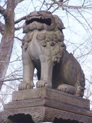 萩狛犬   『北野天満宮』文久二年(1862)