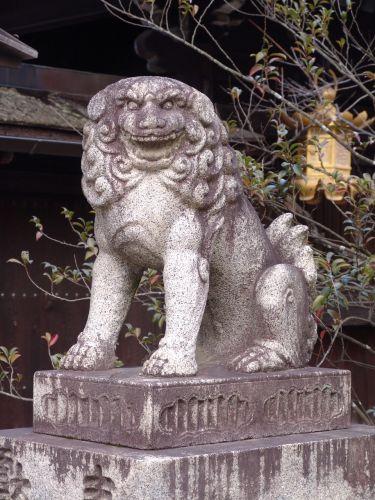 京狛犬  『北野天満宮』建て年号不明